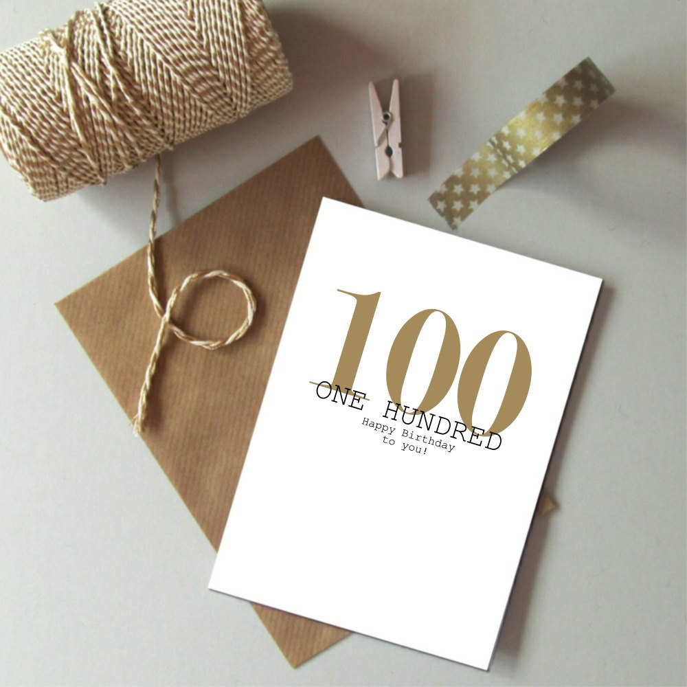 100th Birthday Card Always Sparkle