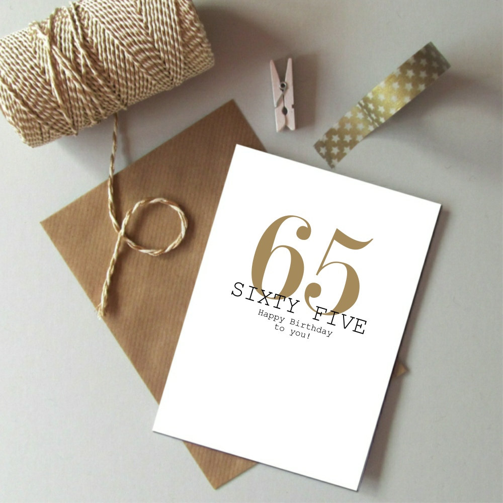 65th Birthday Card Always Sparkle