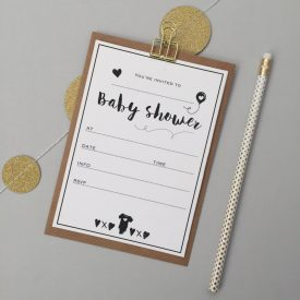 Baby shower invites. Baby shower invitations pack. Pack of baby shower invites. Baby shower invite pack.