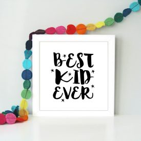 Best kid ever framed art print. Children's bedroom art print. Boys bedroom girls bedroom art print. Gift for girls or boys. New baby gift