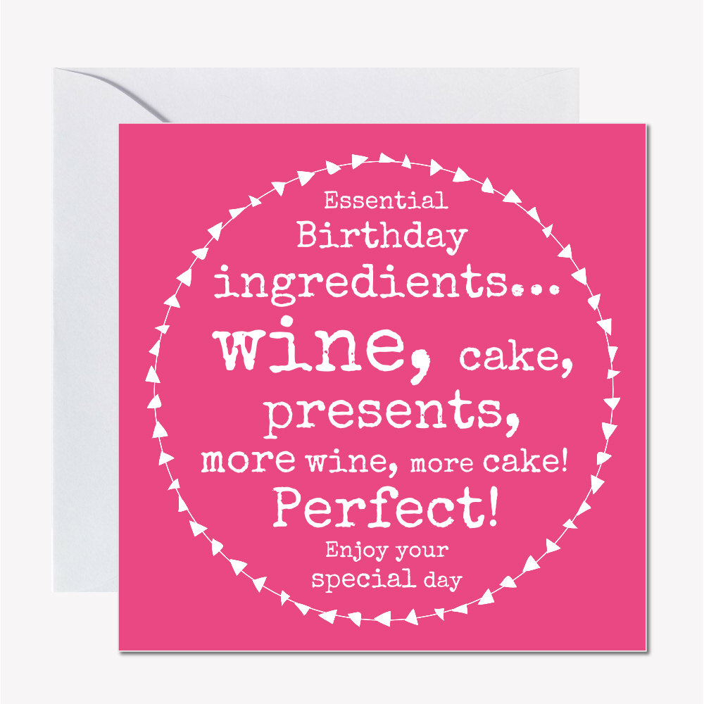 Funny Female Birthday Card 295