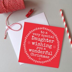 Daughter Christmas card. Christmas card for Daughter. Family Christmas card. Best Daughter Christmas card. Wonderful Daughter Christmas card