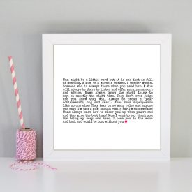 Gift for Mum. Gift for Mom. Mother's day present gift. Gift for a special Mum. Definition of a Mum framed print. Present for Mom.