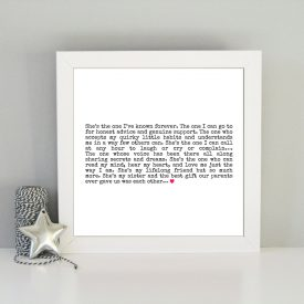 Gift for sister. Best sister quote. Framed sister art print. Gift ideas for sister. Sister best friend. Christmas Birthday gift idea sister