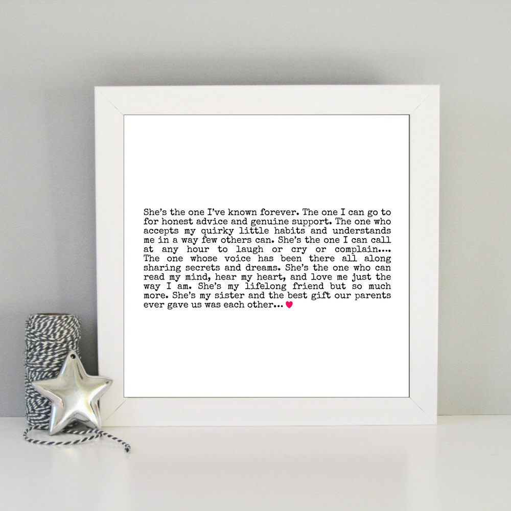 Sister Framed Print Always Sparkle