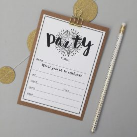 Party invites. Party invitations pack. Pack of general party invitations. Modern party invites. Birthday party invites. Pack of 8 invites