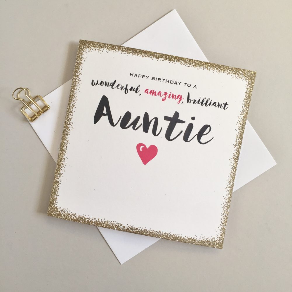 Auntie Birthday Card SP36